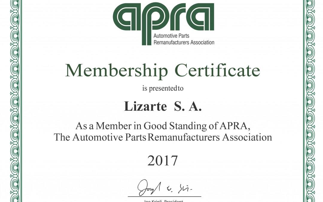 Lizarte renueva su contrato anual con APRA