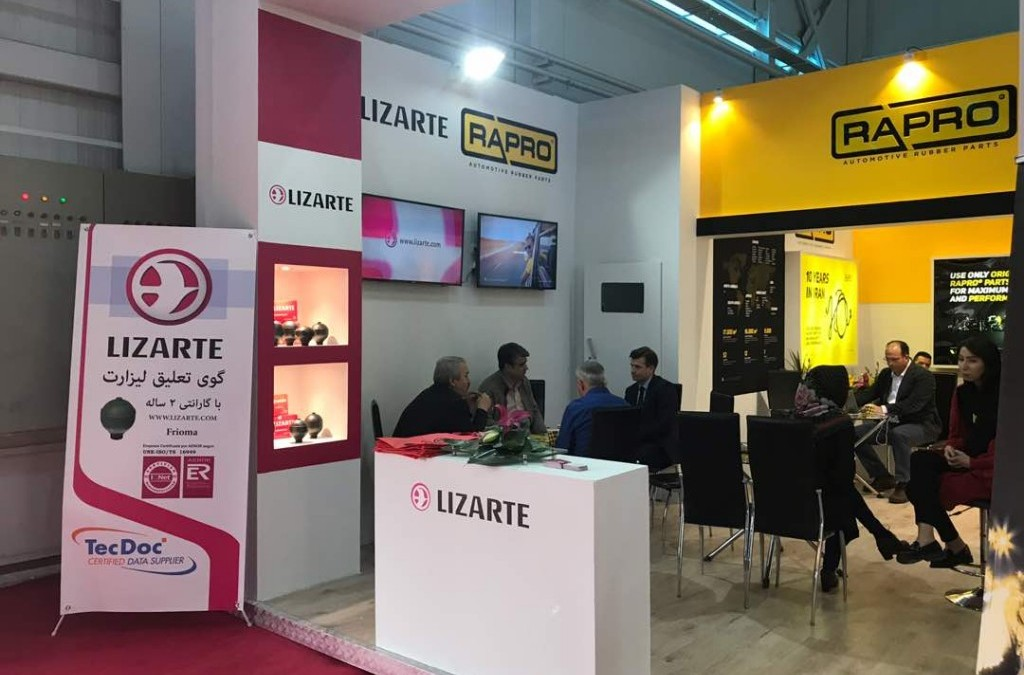 Lizarte attends the IAPEX 2017 exhibition in Iran